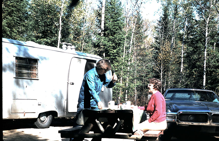 The writer's grandparents, Don and Viola Cline, camping in Tennessee's Smoky Mountains.