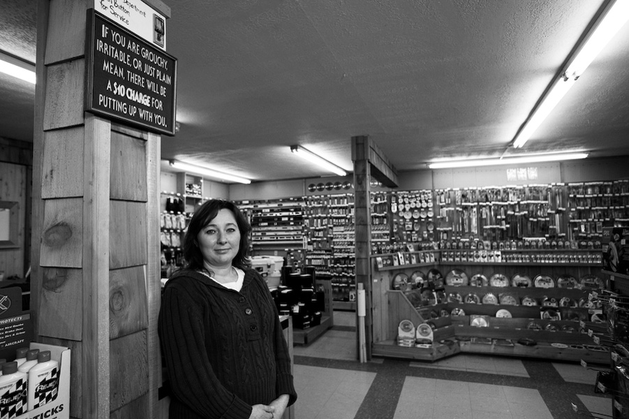 Leona Houston, Director of Operations at B and I True Value Hardware of Junction City hasn't noticed as steep a drop in sales as other businesses in the area. While buying new housing is becoming less common, repairing old ones has become more and more popular as mortgage failures flourish.