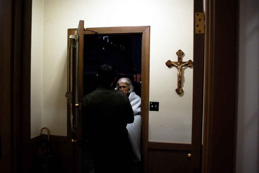 An old women comes to the church after hours on a cold night. Fr. Maro learns to turn her away. (SheÕs been doing this for more than ten years.)