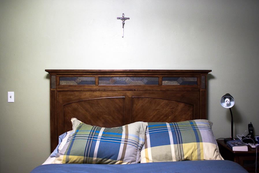 Fr. Maro's bed.