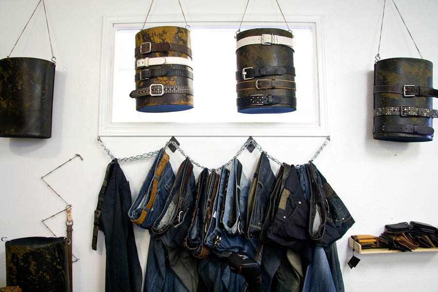 Given the rapid turnover of the fashion industry, Bill Adler's design floor is always littered with remants and last years styles.