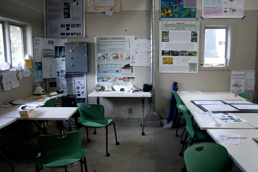 The studio space where senior design students spend most of their young lives.
