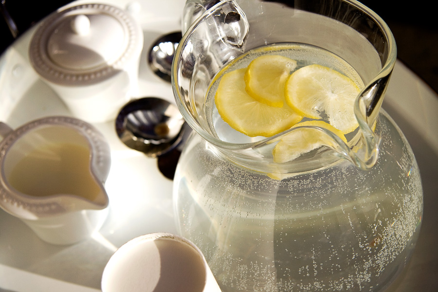 Coffee, cream, and lemon icewater greet every set of hands on butcher day.