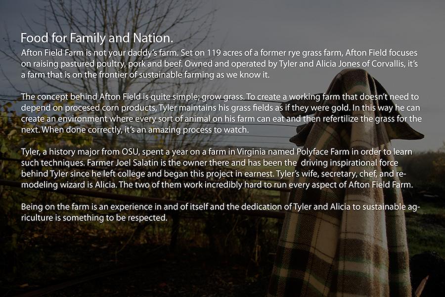 Afton Field Farm Documentary
